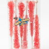 6pc rock candy sticks red