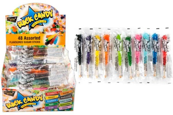 48pc-Shipper rock candy sticks