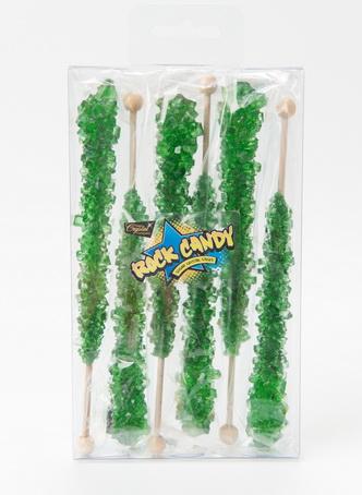 6pc rock candy sticks green