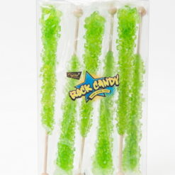 6pc rock candy sticks light green