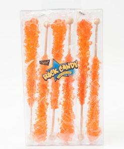 6pc rock candy sticks orange